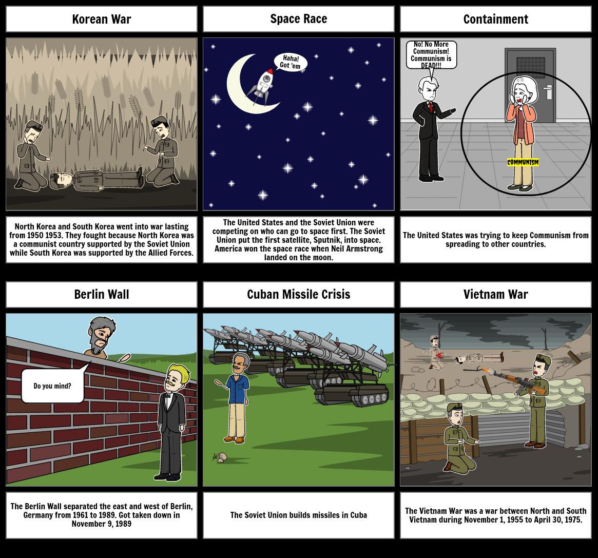StoryBoard Korean War/Space Race