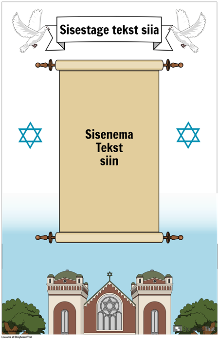 Juudi plakat kerimisega