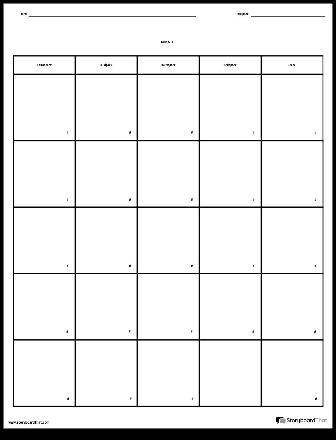 Kalender - Nädalapäev
