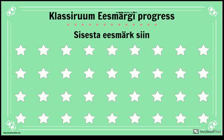 Klassiruumi Eesmärgi Kuvamise Plakat