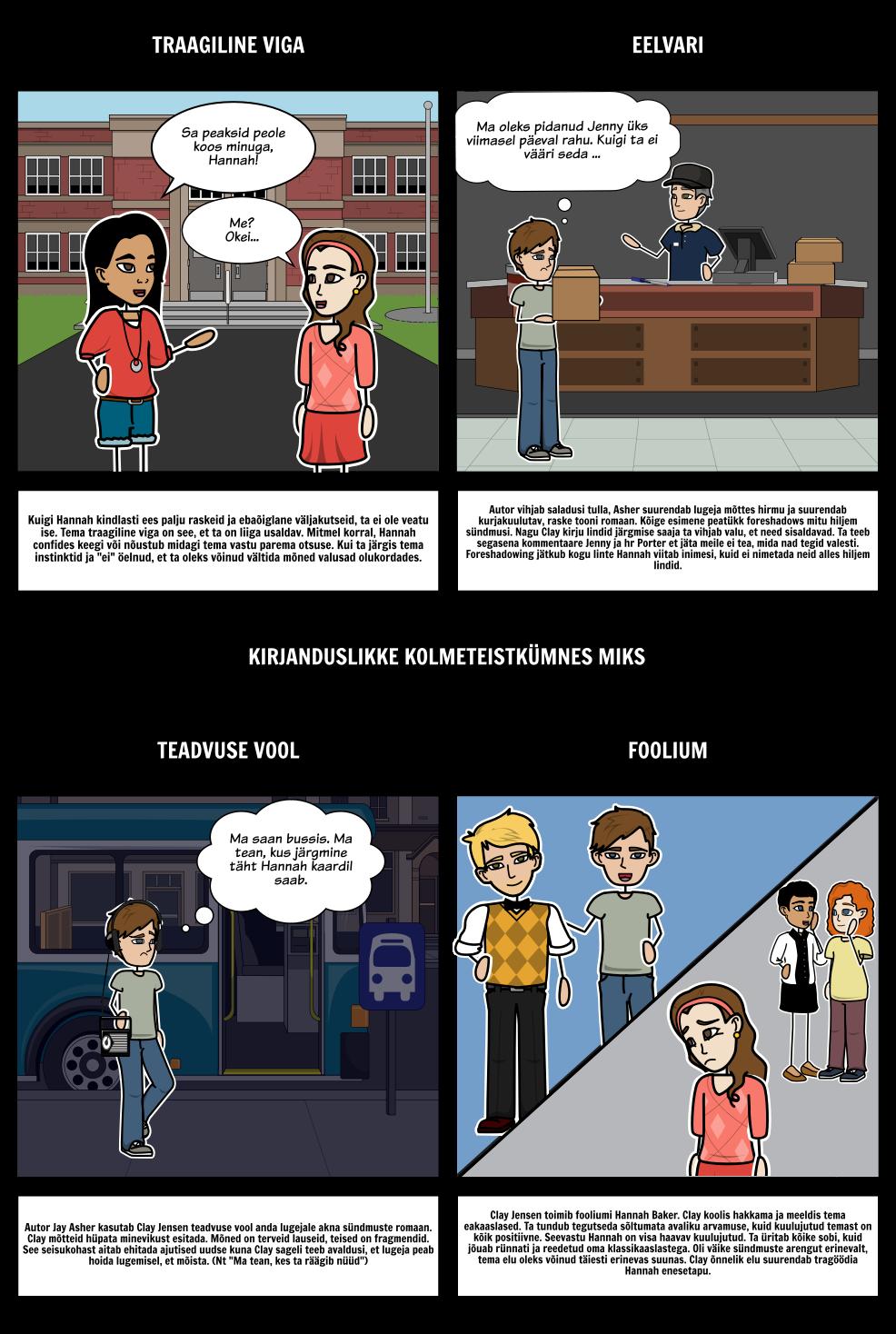 Kolmteist Põhjust, Miks Kirjanduslikke