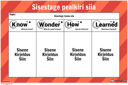 KWHL-i Plakat