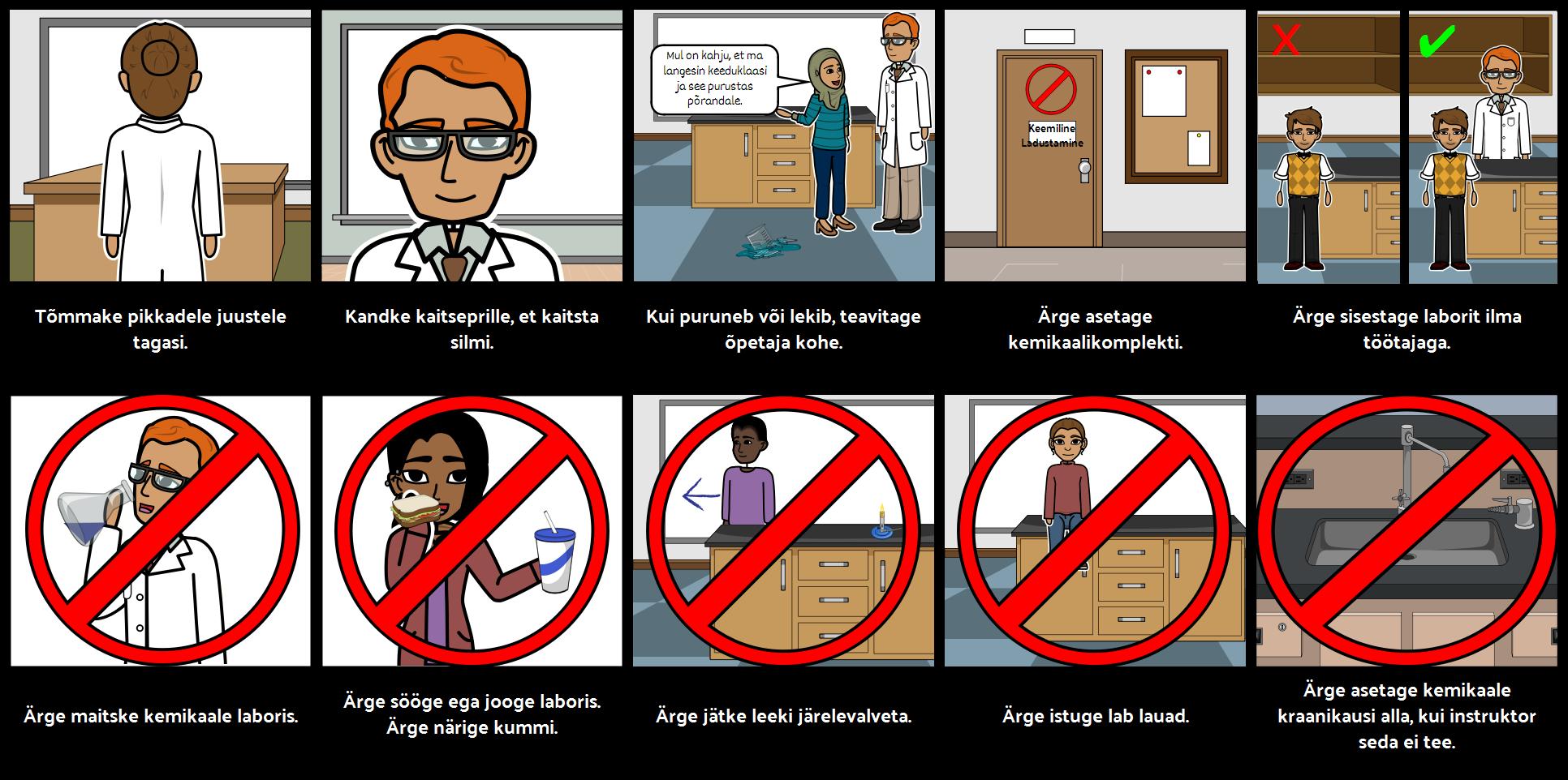 Lab Ohutuseeskirjad
