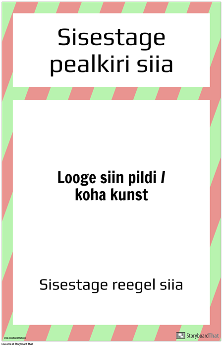 Labori Ohutuseeskirjade Plakat