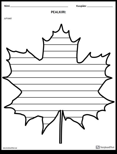 Loov Kirjutamine - Maple Leaf