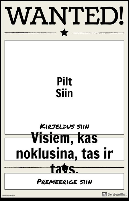 Otsitud Plakat 1