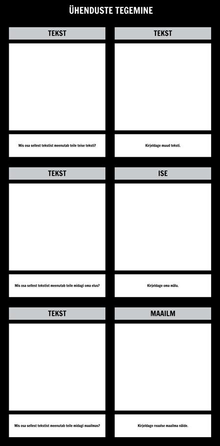 Tekst Ühendused T-Chart Template