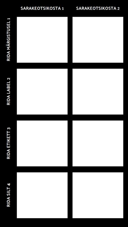 Tühi 2X4 Chart