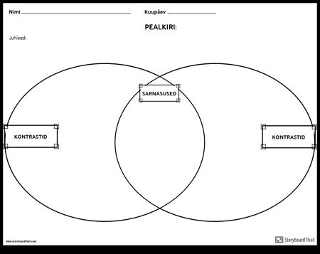 Võrdle Contrast Venn Diagramm