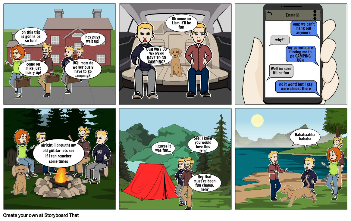 Mike and Liam go camping (comic 4 )