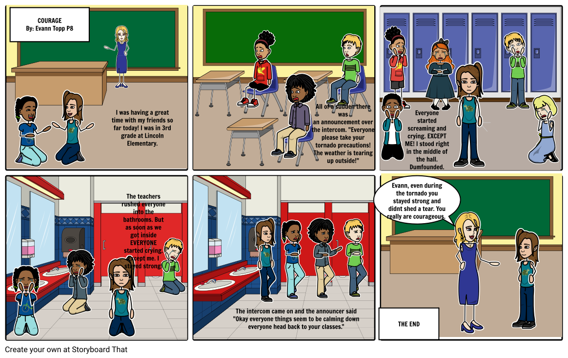 Courage Storyboard P8 Language Arts