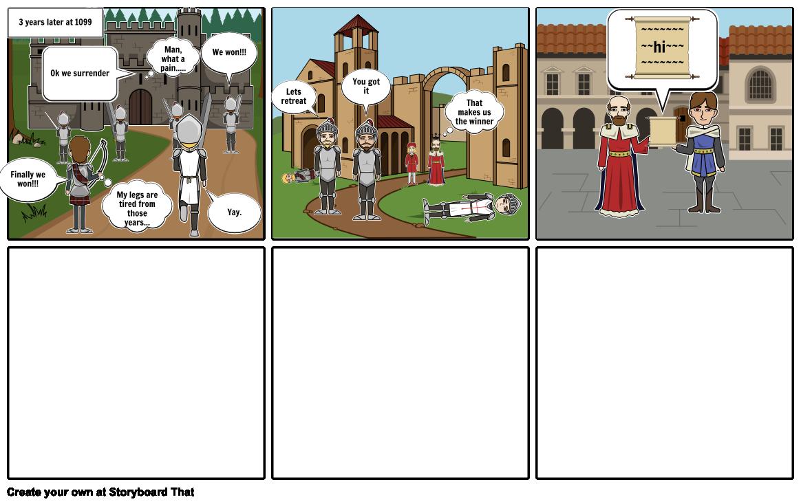 The Crusades Storyboard Part 1?
