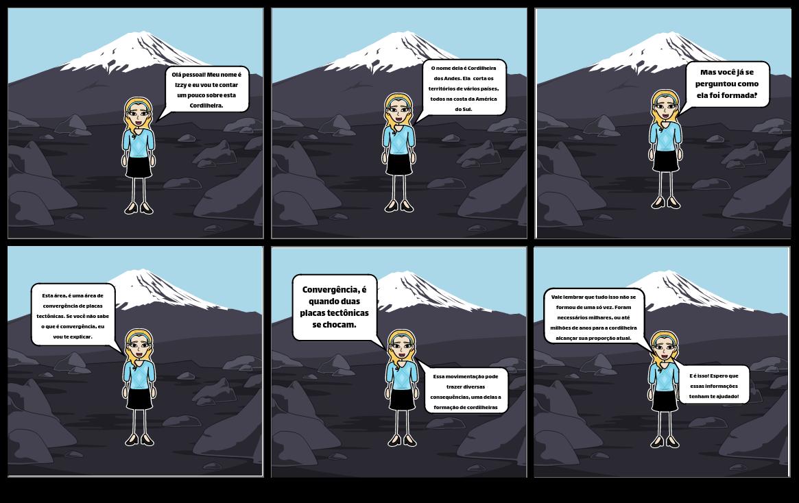 Cordilheira dos Andes e convergência das placas