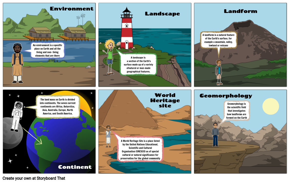 Geographical Term Storyboard