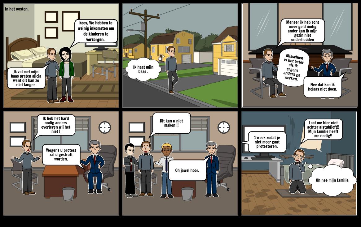 storyboard/strip voor geschiedenis