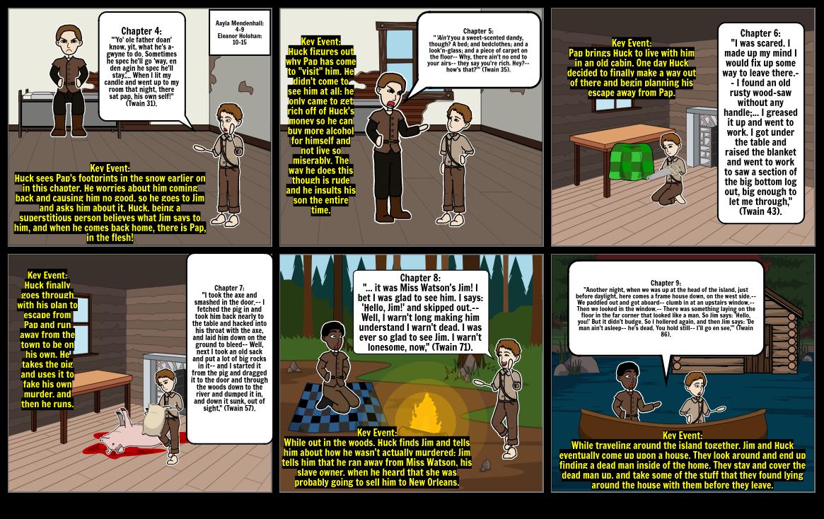 Huck Finn Storyboard Chap 4-9