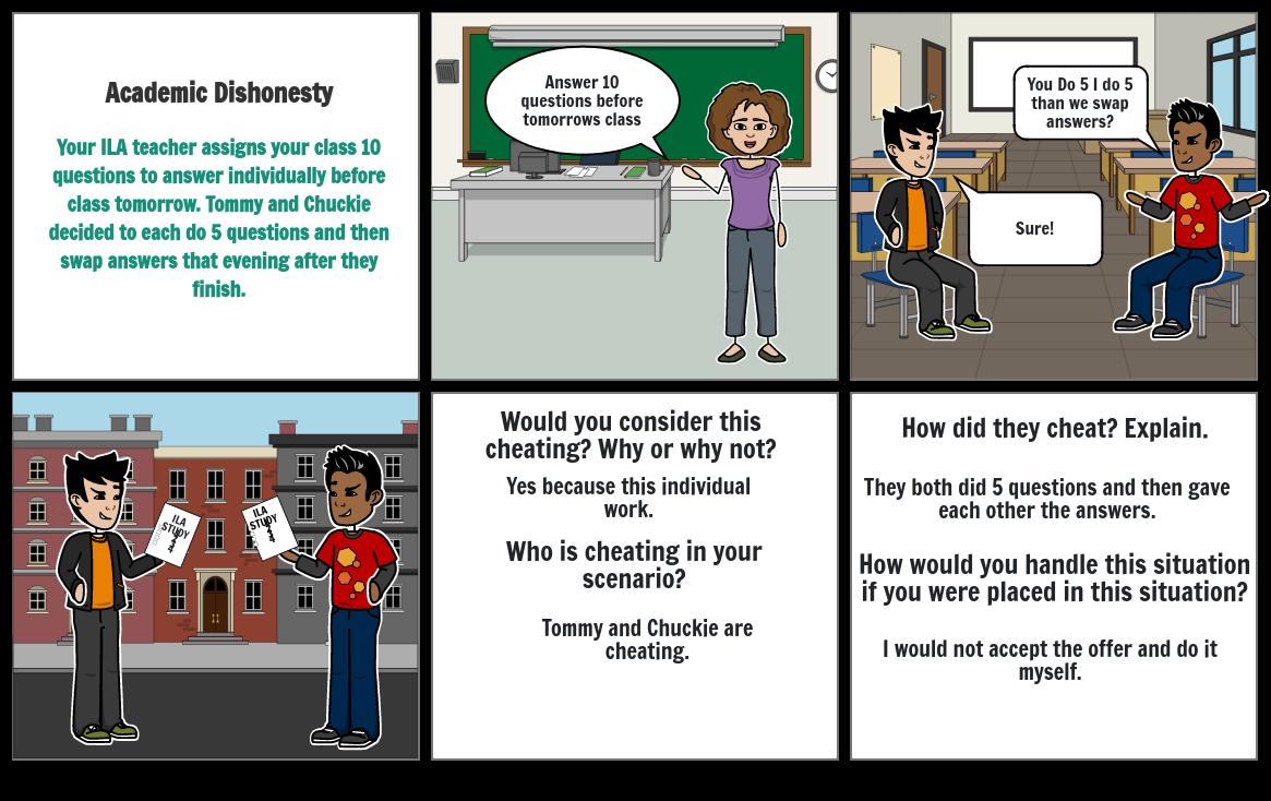 Academic Dishonesty Storyboard