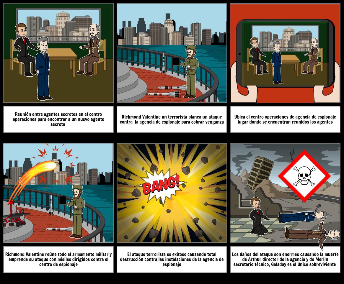 storyboard Kingsman