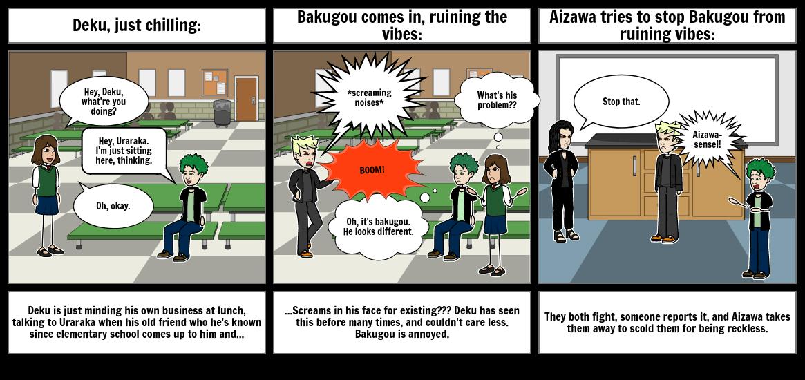 Bakugou to deku every second of the show until season 4: