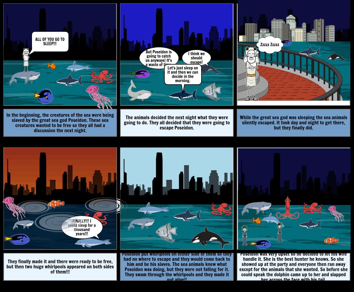 Poseidon And The Sea Creatures