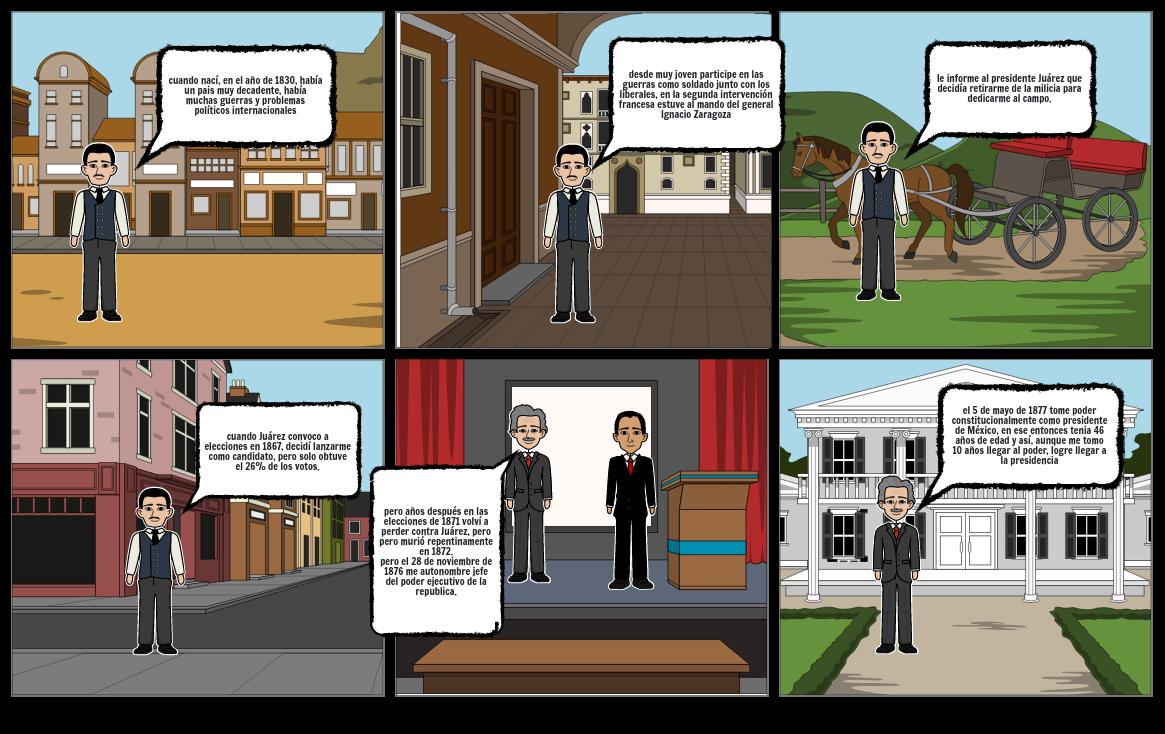 comic de Porfirio Díaz