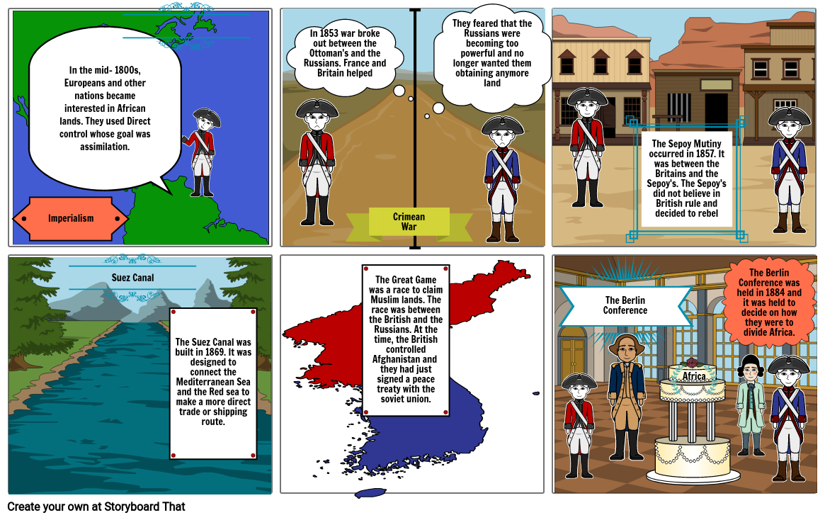 Imperialism Storyboard- Honors History