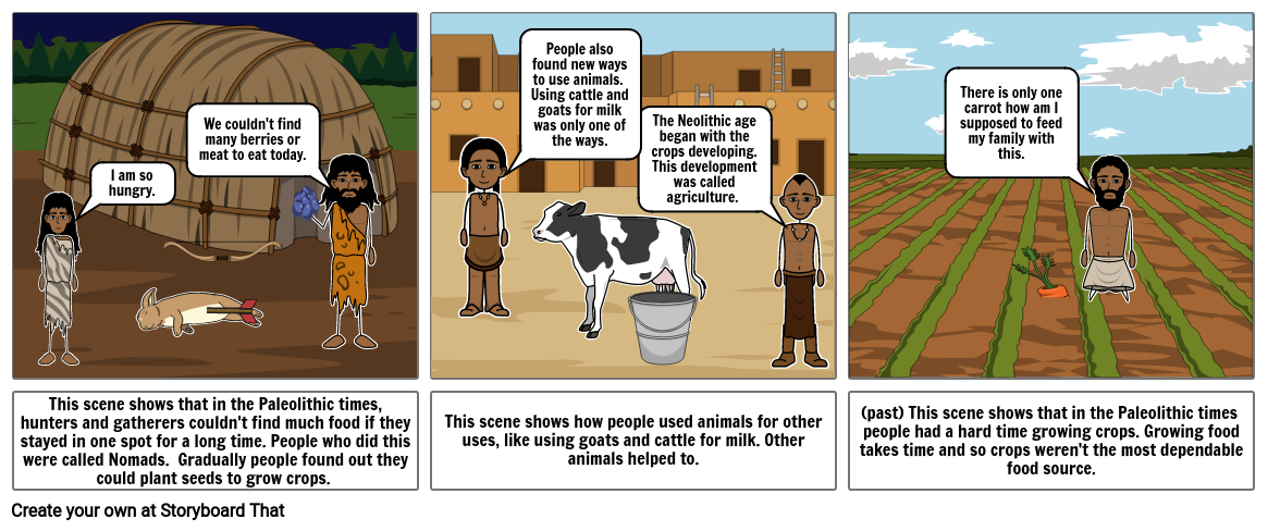 Neolithic age comic strip
