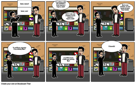 James and Luis go to the movies