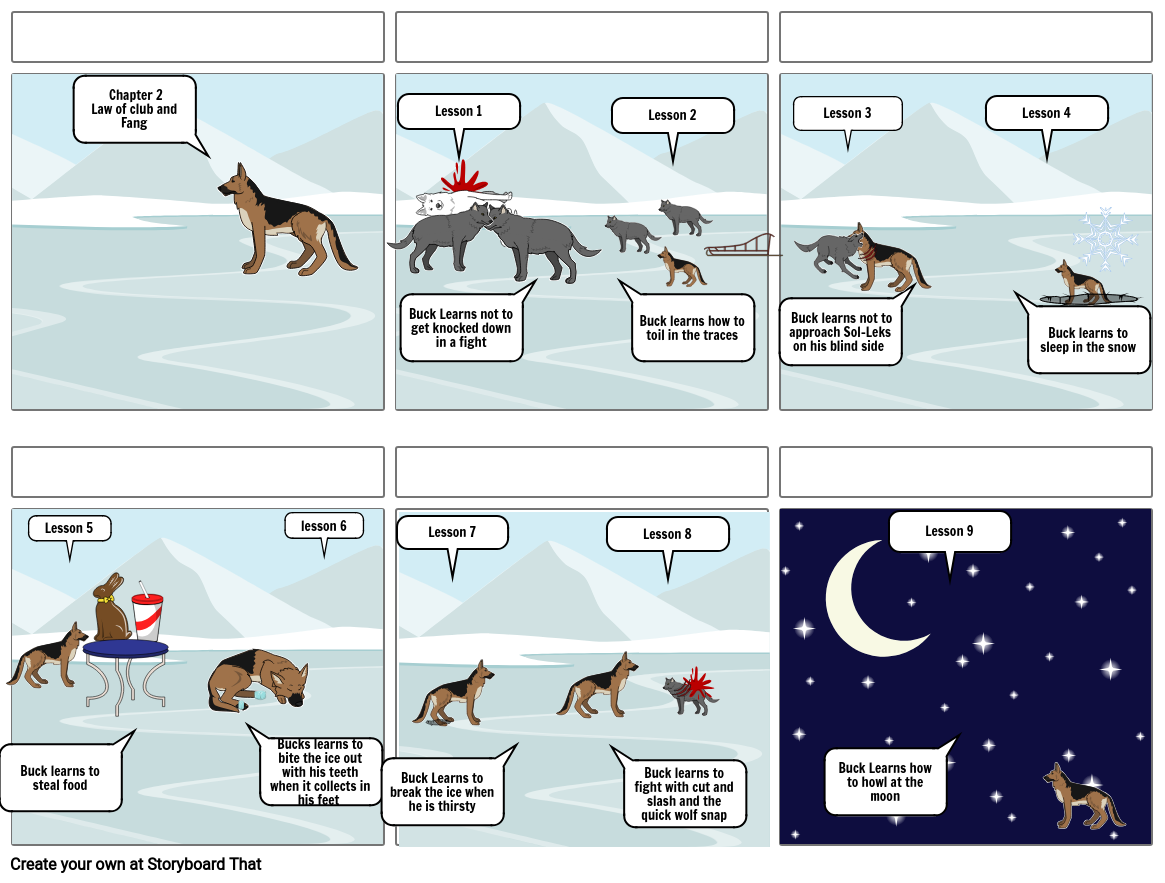 Call Of The Wild Storyboard By Fa99f97f