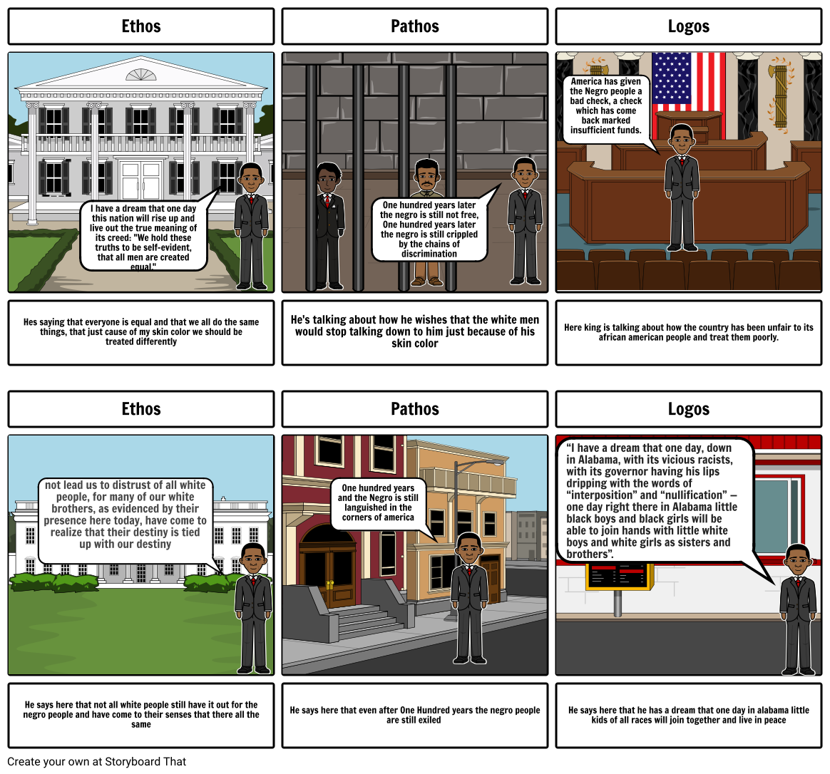 The MLK storyboard