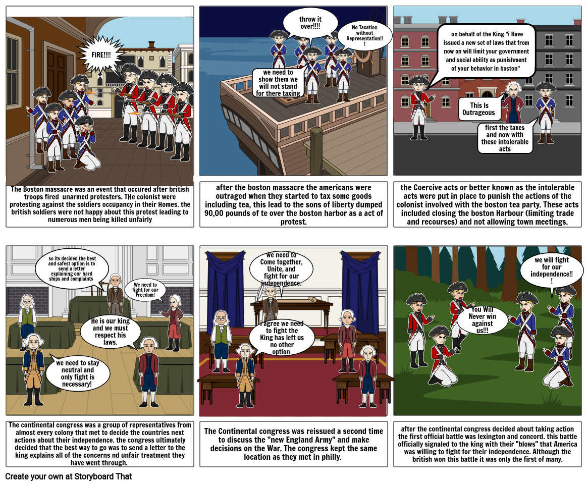 road to revolution story board 2