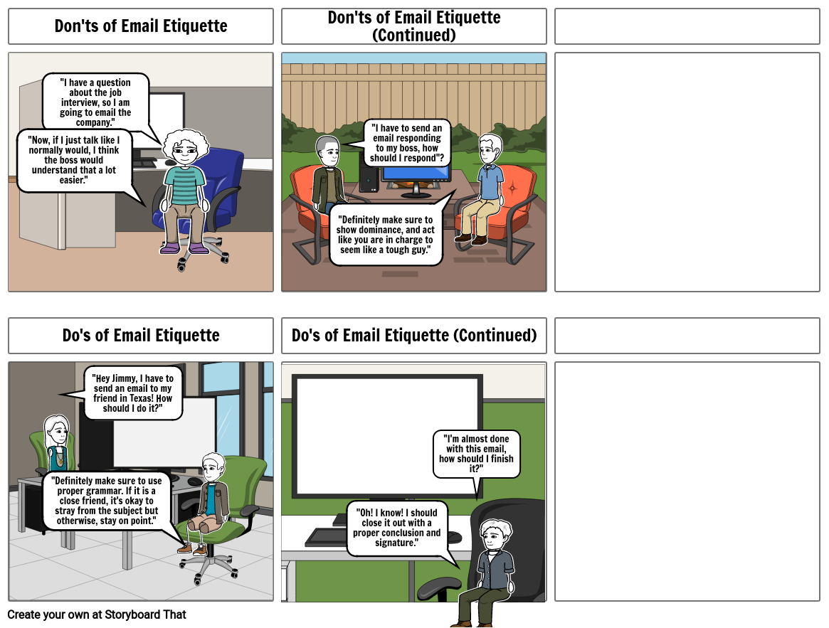 Do's and don'ts of email etiquette.