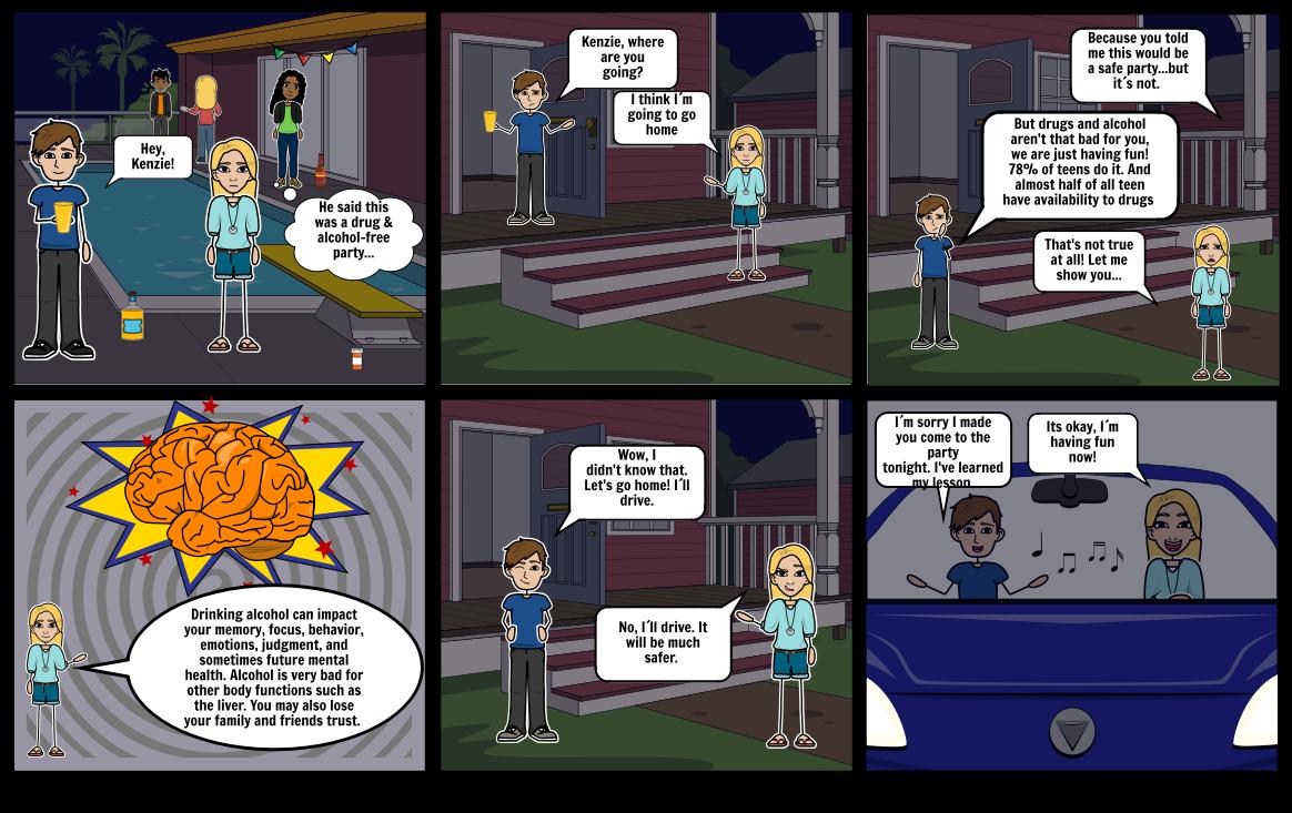 Drugs/Alcohol Risk Behavior Comic