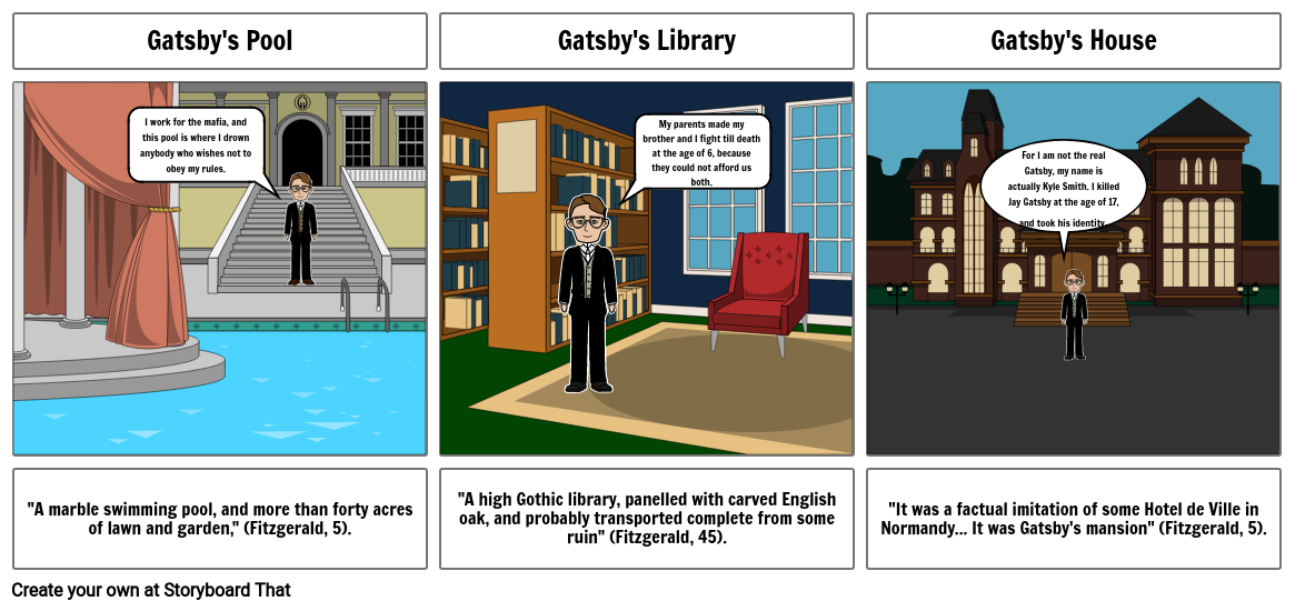 gatsby storyboard