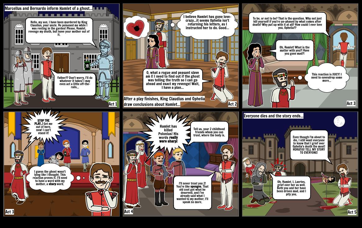 Shawn's Hamlet Storyboard