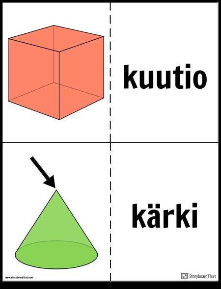 Geometriset Kiinteät Flash-kortit