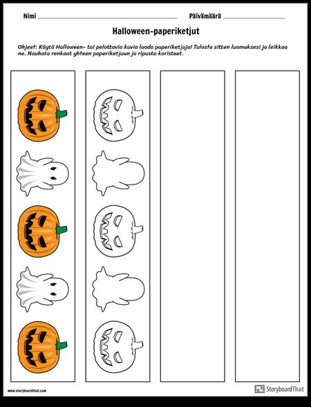 Halloween-paperiketjut