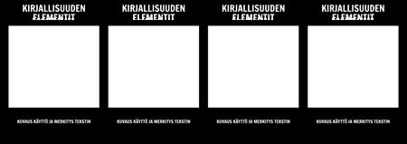 Kirjallisuuden Elements T-Chart
