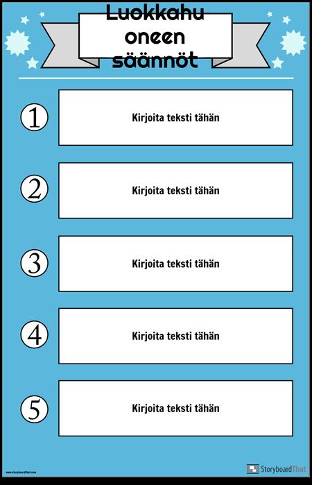 Luokan Sääntöjen Juliste 1
