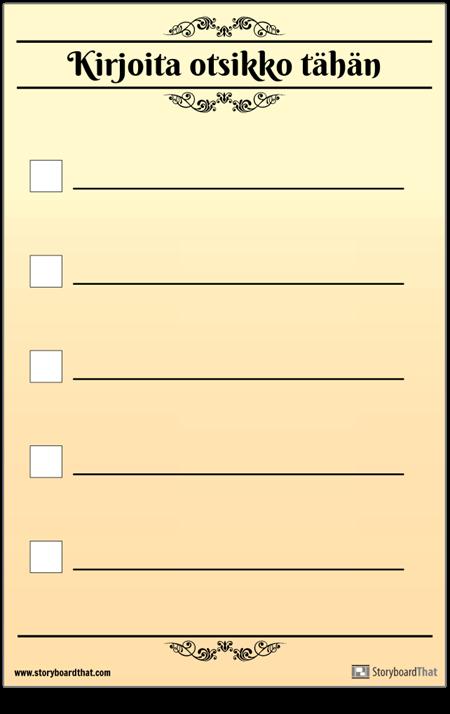 Perus 5 Tarkistuslista