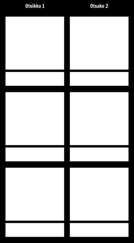 T-kuvio 3 Rivit