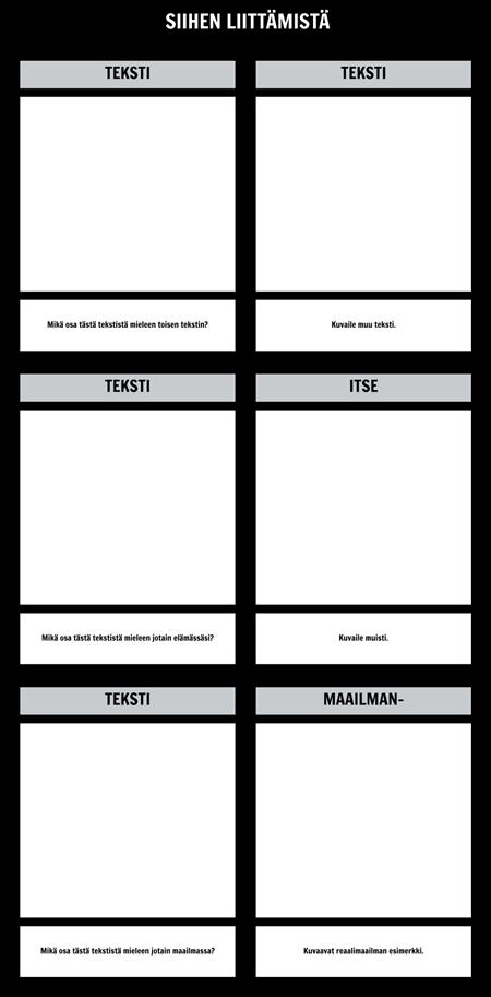 Teksti Liitännät T-Chart Malli