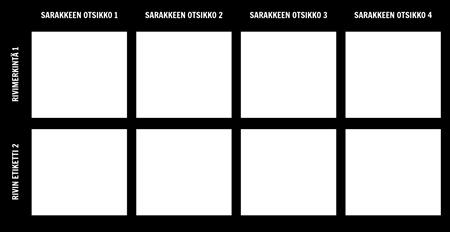 Tyhjä 2x4-kaavio