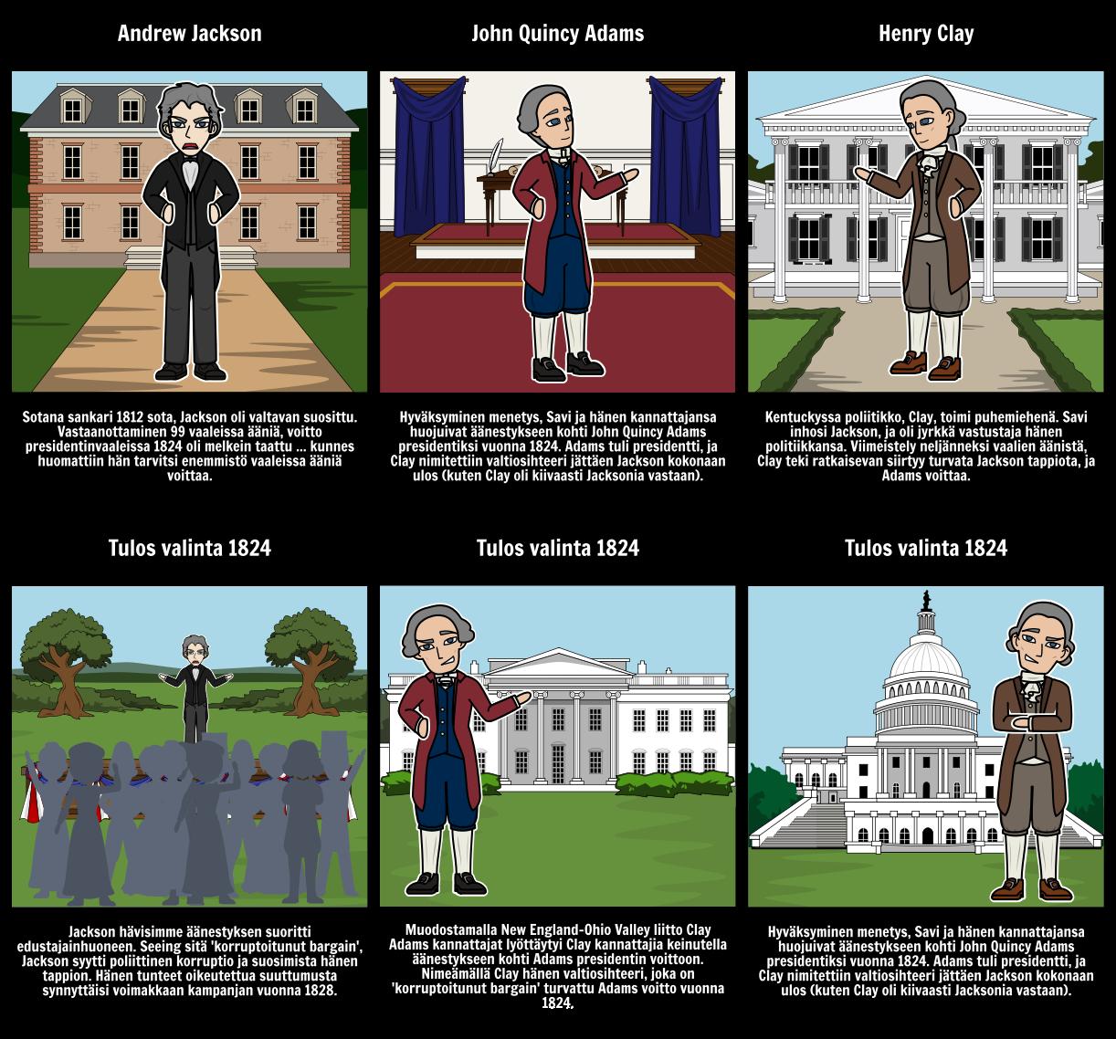 Vaaleissa 1824: korruptoitunut Tarjoushinta
