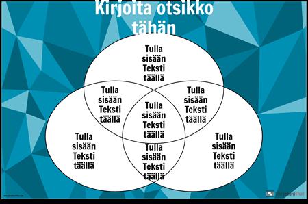 Venn-kaavio 3 Ympyrät