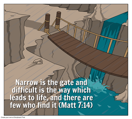 Are you walking on the difficult path?