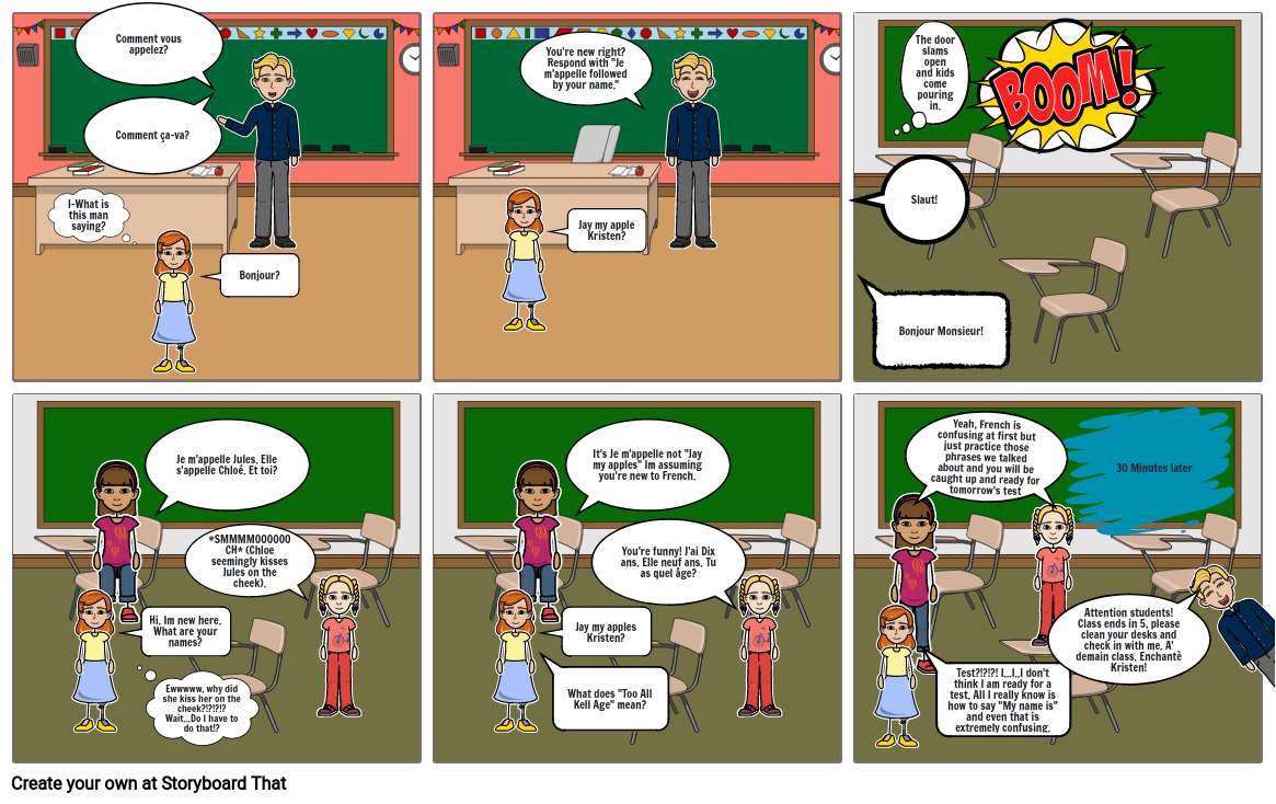 French 1: Cartoon Assessment