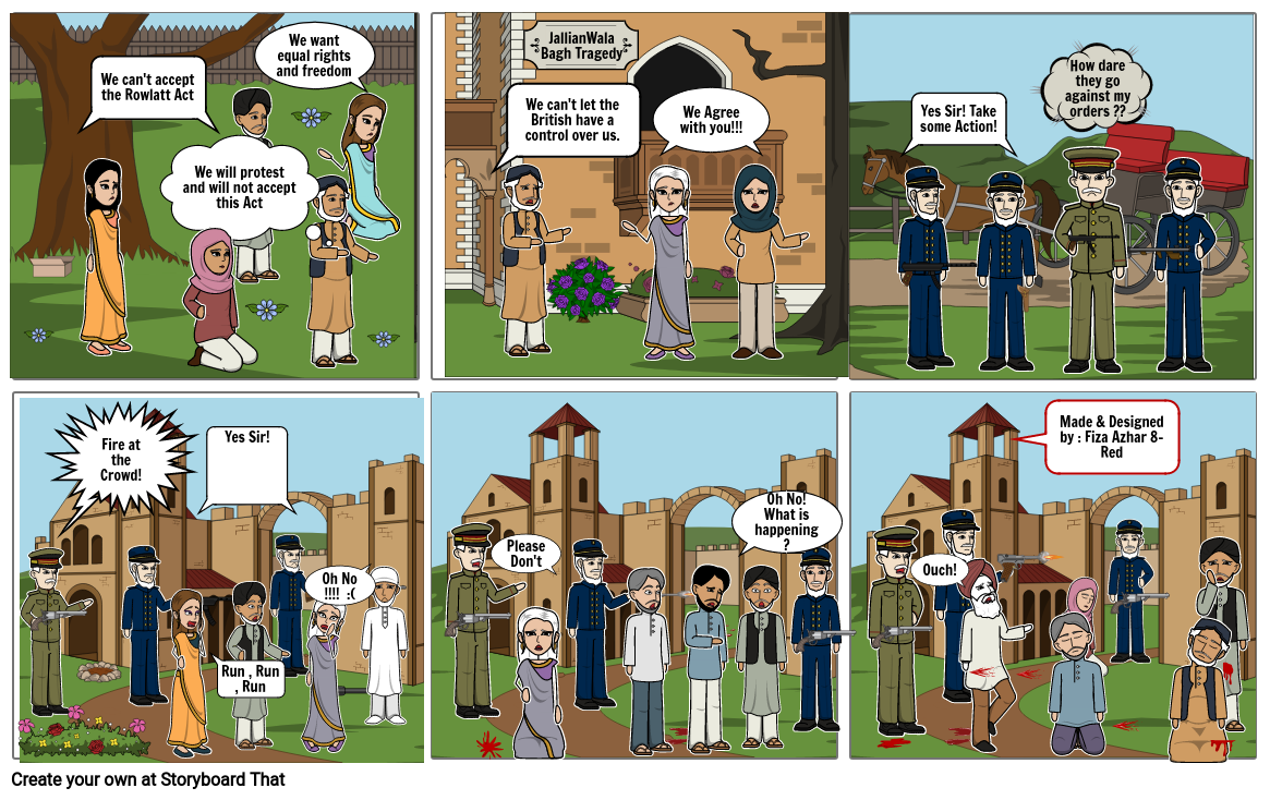 JallianWala Bagh Tragedy by Fiza Azhar 8-Red