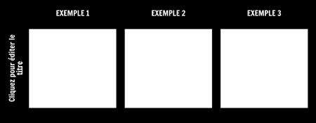 3 Tableau des Exemples