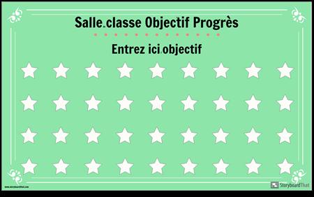 Affiche D'affichage D'objectif de Salle de Classe